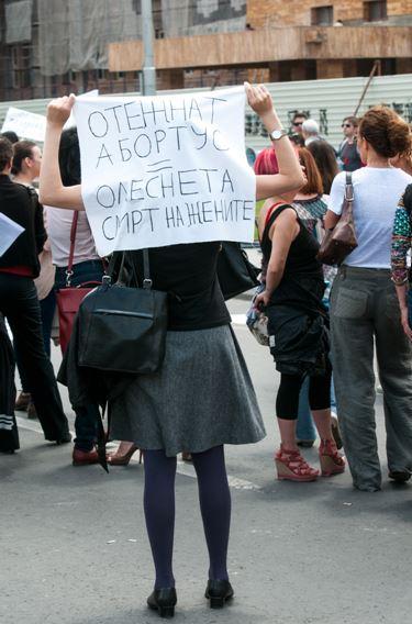 protest protiv zakonot za abortus